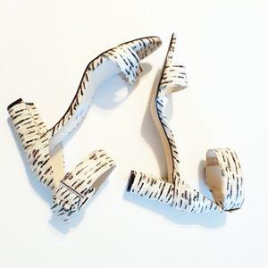 💎NWOB Nine West Textured Ankle Strap Sandals